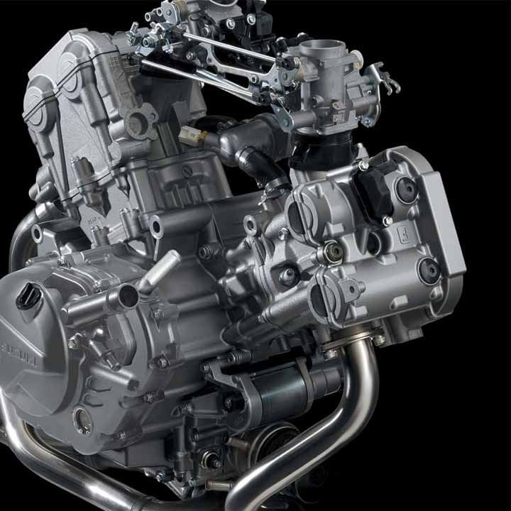 645CC DOHC V-TWIN Engine
