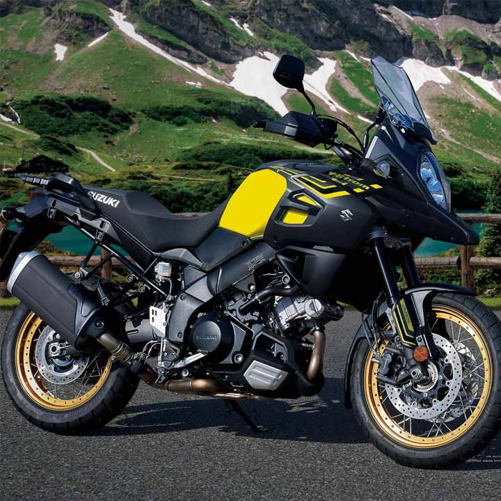 The V-Strom 1000XT is driven by a powerful and versatile 90-degree, DOHC, V-Twin. The strong, rider-friendly nature of this engine gives effortless acceleration no matter what the riding situation or the presence of a pillion rider. The 101PS maximum output at 8,000rpm will give the rider an exciting riding experience.