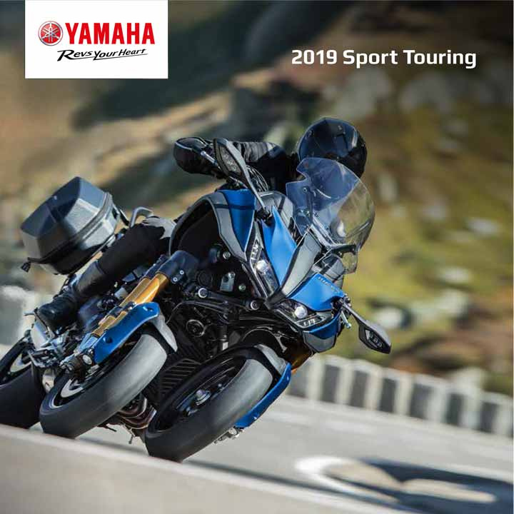 Save the planet – click the button to download the 2019 Yamaha Sport Touring Range Brochure.