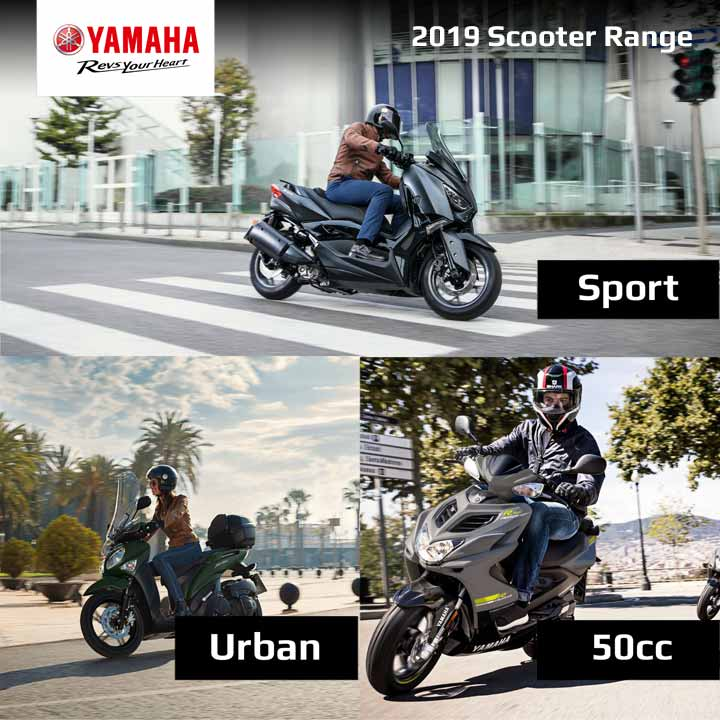 Save the planet – click the button to download the 2019 Yamaha Scooter Range Brochure.
