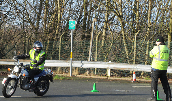 Streetbike Motorcycle Training, Instructor coaching a student!